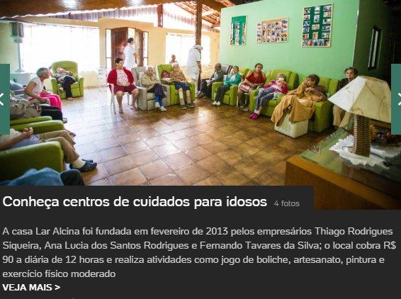 Matéria ULO sobre a Casa de Repouso para Idosos Lar Alcina